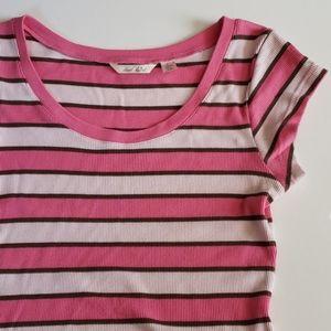 Derek Heart Striped Tshirt